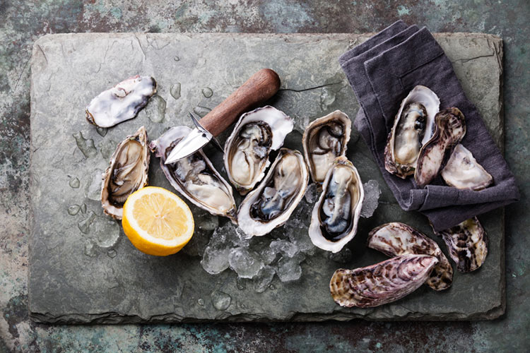 Carlingford Oyster Recipe for Raw Oysters on the Half Shell